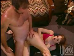 Sexy Redhead Gets Her Asshole Licked and Pussy Fucked