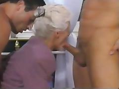 Old, Double, Granny, Mature, Old, Double Penetration