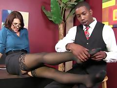 Gorgeous Charlee Chase Goes Hardcore With A Black Boy