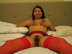 Wild Filipina Gina Jones Licks Ball Batter tube porn video