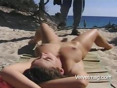 Adorable, Adorable, Beach, Big Tits, Brunette, Couple