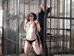 Amateur subbie in chair bondage