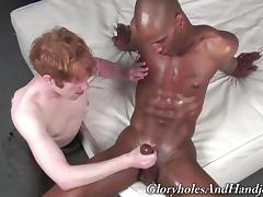 Gay Guy Serves Great A Handjob To A Yummy Black Fellow porn tube video
