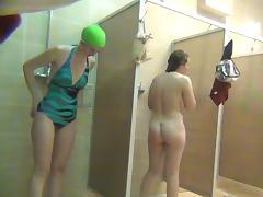 Bathroom, Bathroom, BBW, MILF, Shower, Voyeur