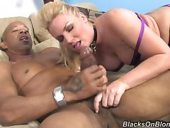 Big-assed blonde milf Flower Tucci sucks and rides a big black dick tube porn video