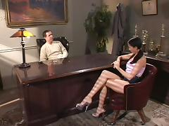 Amazingly hot Liza gets fucked hard in a prinipal's office tube porn video