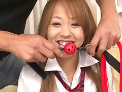 sexy japanese schoolgirl is gagged and groped tube porn video