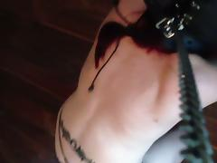 BDSM ex slave on leash