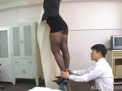 Boss, Asian, Blowjob, Boss, Couple, Cowgirl