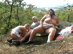Mom and Boy, Big Tits, Blonde, Blowjob, Boobs, Couple