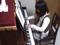 Piano, Amateur, Asian, Big Cock, Blowjob, Cum in Mouth