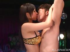 Kotori Hanagara naughty Asian stripper shows off