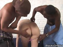 Tasty Tori Paige Has An Interracial Threesome With Two Big Guys