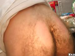 A student sucks a big cock and gets fucked in a dorm