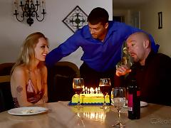 birthday party and sex with his wife and a friend tube porn video