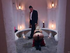 Anna Joy gets her ass toyed and brutally fucked from behind