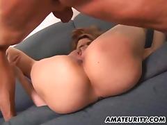 Amateur girlfriend fucked with creampie cumshot