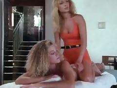 Two luscious blondies are going wild on each other