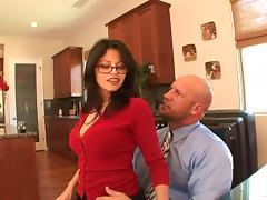 Evie Delatosso gives a blowjob and enjoys sex in reverse cowgirl pose porn tube video