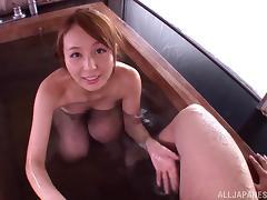 Bath, Asian, Bath, Blowjob, Couple, Cum in Mouth