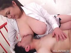 Stunning Yuuki Itano Gets Her Big Tits Licked Hard