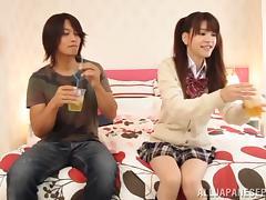 Rina Osawa Japanese teen enjoys hardcore sex tube porn video