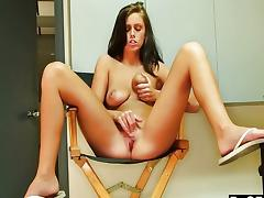 Dagfs - Whitney cums on the director's chair