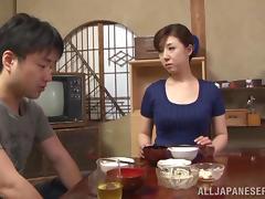 Mom and Boy, Asian, Banging, Blowjob, Bra, Couple