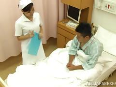 Astounding Japanese Nurse Serves A Handjob To A Patient