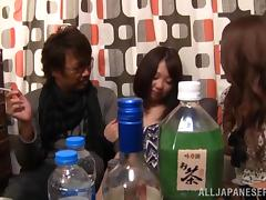 Japanese cutie Eri Hosaka gets her pussy fingered, toyed and fucked