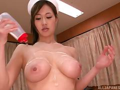 Beautiful Sayuki Kanno oils her tits up and gets nailed in a hospital