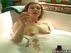 Marvelous Sandri Takes A Soapy Bath Before Going Hardcore