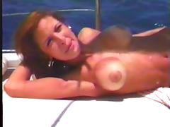 Busty Amanda Ra gets pounded in the middle of the forest