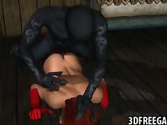 3D redhead fucked by a monster tube porn video