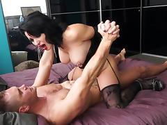 Bodystocking, Bedroom, Big Tits, Blowjob, Bodystocking, Brunette