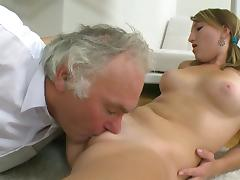 Old teacher is fucking with young Kira tube porn video