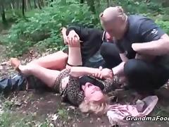 Angry, Angry, Blonde, Blowjob, Bound, Granny