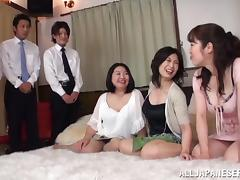 Asian Swingers, Amateur, Asian, Blowjob, Bra, Cowgirl