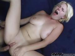 She is a slutty blond that loves some hardcore