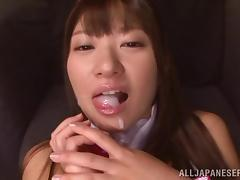 japanese bunny opens her legs and eats cum tube porn video