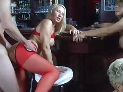 Bar, Bar, Blowjob, Pornstar, Stockings