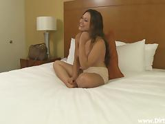 Stunning Brunette Goes Really Hardcore In A Casting