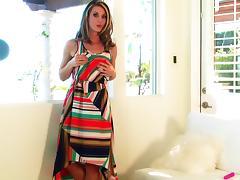 Masturbation video of horny blonde slut Michele Monroe