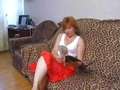 Russian, Mature, Redhead, Russian, Mother in Law