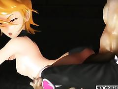 Two 3d girls gets fucked rough