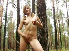 Ponytail, Masturbation, Outdoor, Panties, Small Tits, Teen