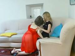 Russian slut Judith having Sapphic strapon fun tube porn video