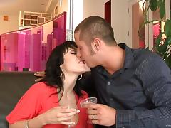 Luscious Lopez and Beverly Hills suck a wang and jump on it by turns porn tube video