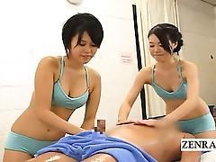 Massage, Amateur, Asian, CFNM, Group, Handjob