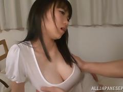 Akane Yoshinaga arousing Asian babe in wet clothes is fucked porn tube video